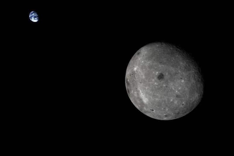 Ziemia i Księżyc obserwowane przez Chang'e 5-T1 /materiały prasowe