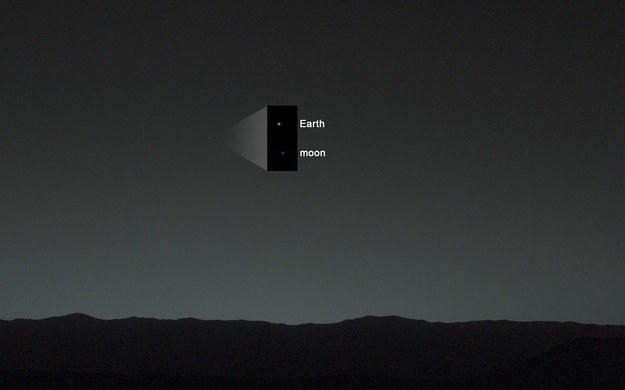 Ziemia widziana przez łazik Curiosity z powierzchni Marsa /NASA