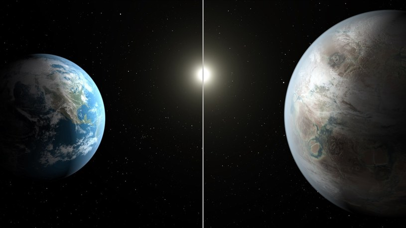 Ziemia (z lewej) i Kepler-452b /AFP