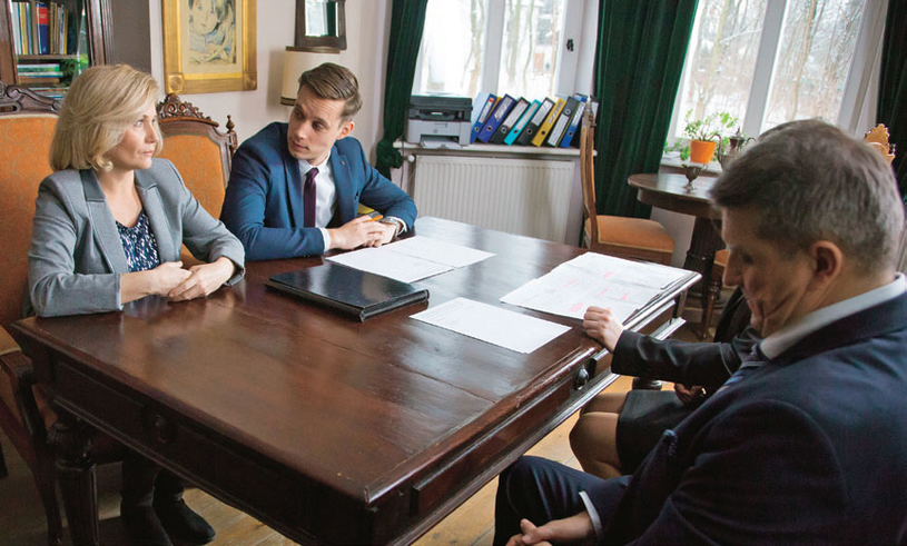 Zimińscy spotkają się w obecności swoich adwokatów /Świat Seriali