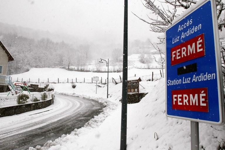 Zimowa aura we Francji, zdj. ilustracyjne /AFP