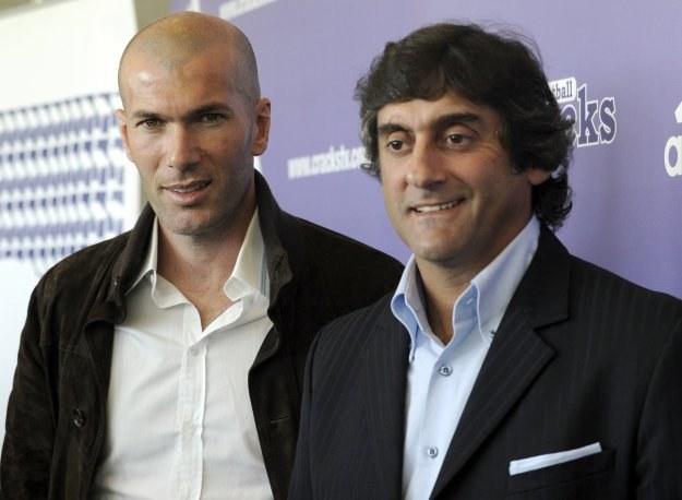 Zinedine Zidane i jego idol - Enzo Francescoli. /AFP