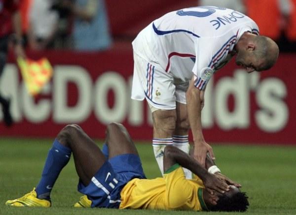 Zinedine Zidane zatrzymał Brazylię /AFP