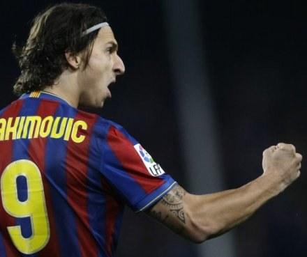 Zlatan Ibrahimović - bohater Barcelony /Agencja FORUM