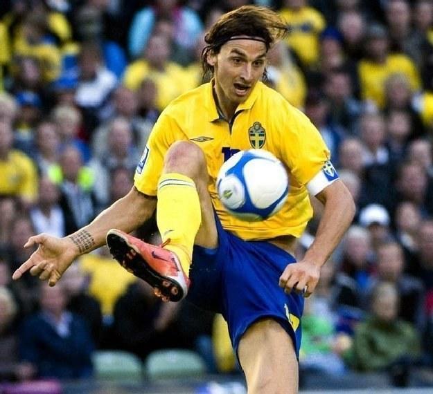 Zlatan Ibrahimovic, gwiazda reprezentacji Szwecji /AFP