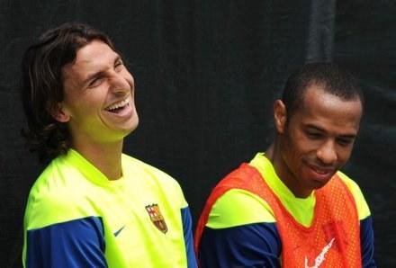 Zlatan Ibrahimovic i Thierry Henry /AFP