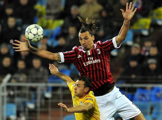 Zlatan Ibrahimovic, piłkarz Milanu /AFP