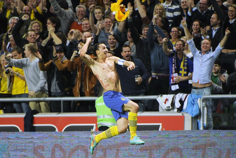 Zlatan Ibrahimović po golu na 4-2 /AFP