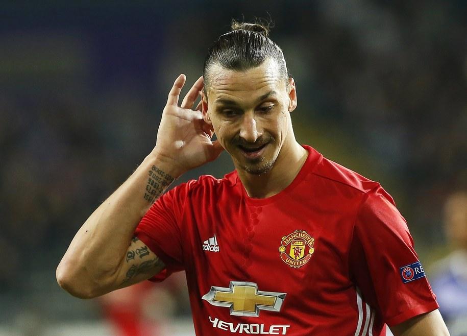 Zlatan Ibrahimovic w meczu Manchesteru United /JULIEN WARNAND /PAP/EPA