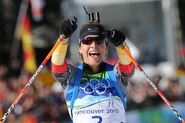 Złota medalistka - Magdalena Neuner /AFP
