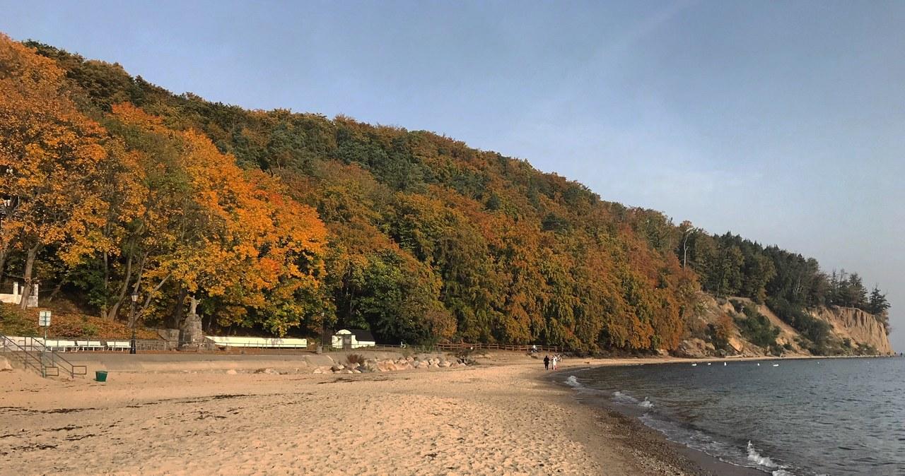 Złota polska jesień nad morzem