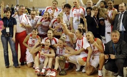 Złote koszykarki Spartaka /AFP