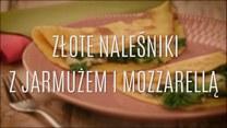 Złote naleśniki z jarmużem i mozzarellą