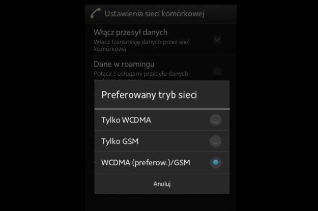 Zmiana obsługiwanej sieci komórkowej w systemie Android - Najpierw wybieramy Ustawienia, potem Sieci zwykłe i bezprzewodowe, a potem Sieci komórkowe /INTERIA.PL