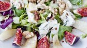 Zmysłowe smaki: Sałatka gruszkowo-figowa