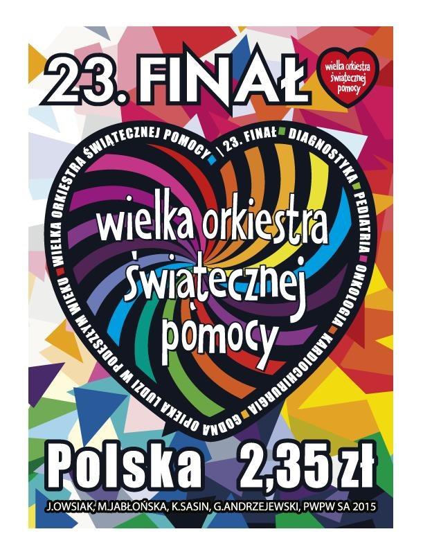 Znaczek zaprojektowali Magdalena Jabłońska, Katarzyna Sasin, Gaweł Andrzejewski i Jurek Owsiak /WOŚP /INTERIA.PL