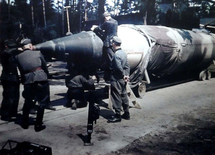 Znacznie ponad sto rakiet V2 Niemcy przeznaczyli na testowe strzały z Borów Tucholskich (źródło: Odkrywca) /