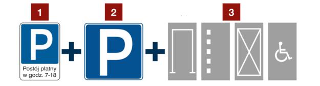 znaki parkowanie /Motor