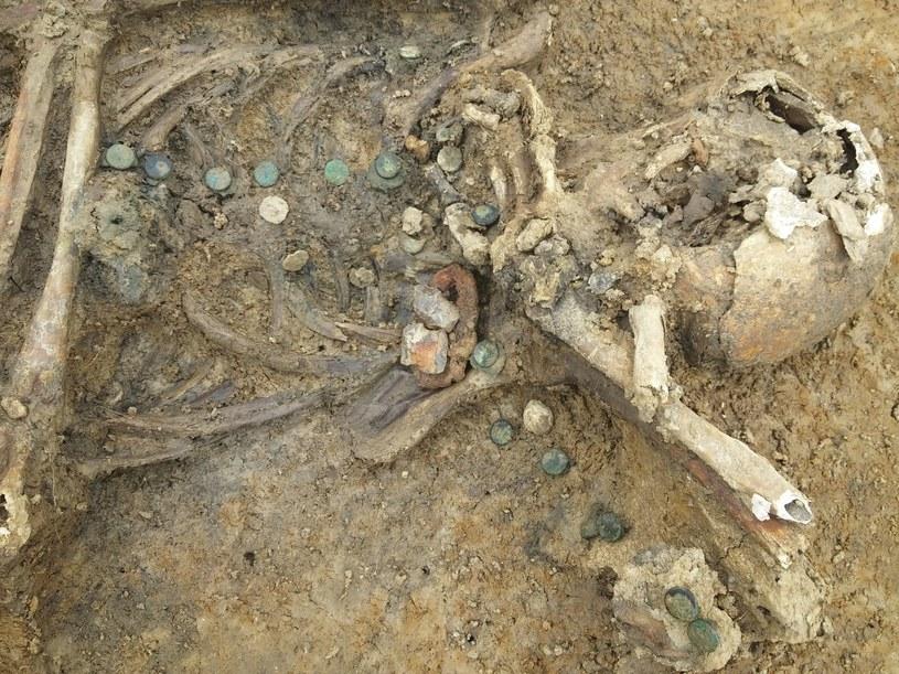 Znalezione przy szkieletach guziki o proweniencji pruskiej /Fot. Odkrywca /Odkrywca