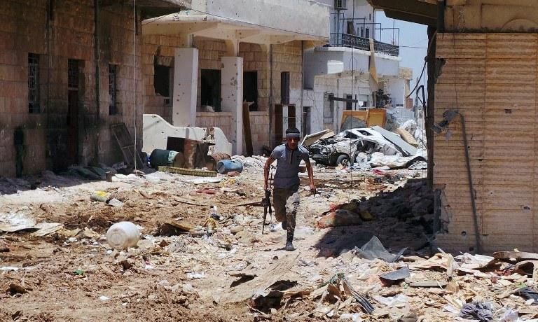 Zniszczenia w Syrii /AFP