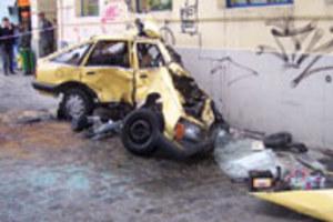 Zniszczona ascona na Ruskiej...
