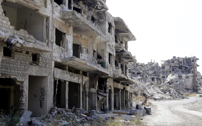 Zniszczone budynki w okolicach centrum Syrii /AFP