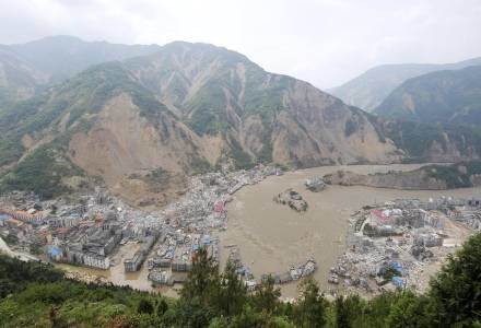 Zniszczone miasteczko Beichuan /AFP
