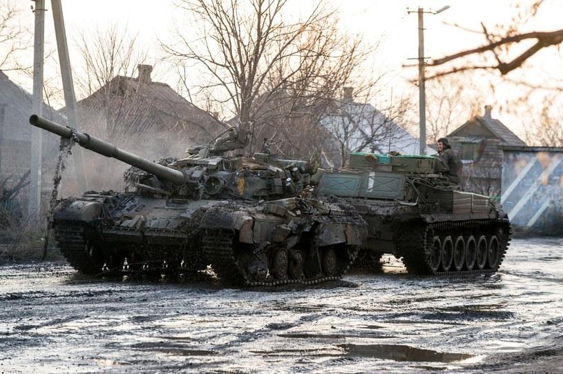 Zniszczony ukraiński czołg w regionie donieckim /AFP