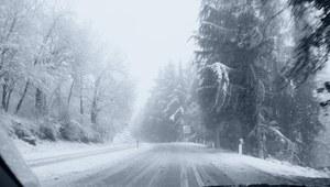 Znowu biało i ślisko na drogach