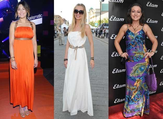 Zobacz, jak gwiazdy noszą długie sukienki /MWMedia
