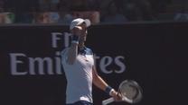 Zobacz najlepsze zagrania drugiego dnia Australian Open. Wideo