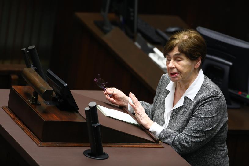 Zofia Romaszewska jako przedstawicielka prezydenta zabrała głos w Sejmie w czasie debaty nad projektami ustaw sądowniczych /STANISLAW KOWALCZUK /East News