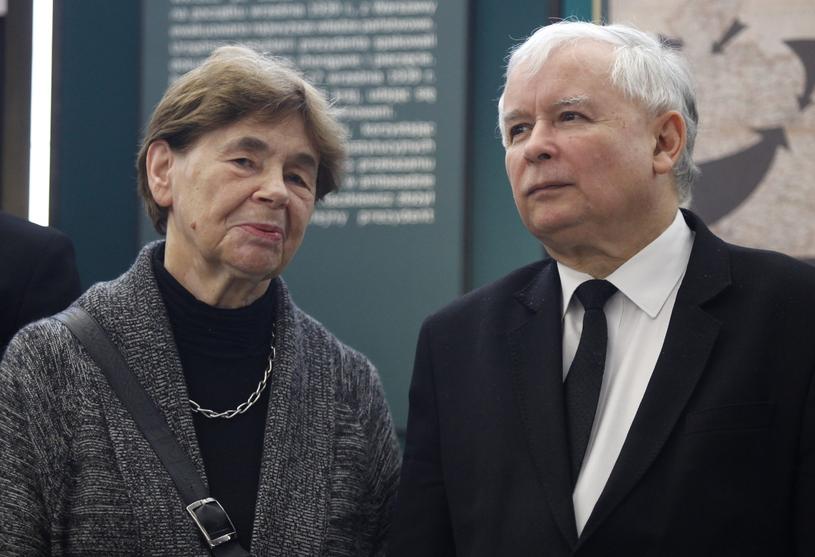 Zofia Romaszewska w towarzystwie Jarosława Kaczyńskiego /Stefan Maszewski /Reporter