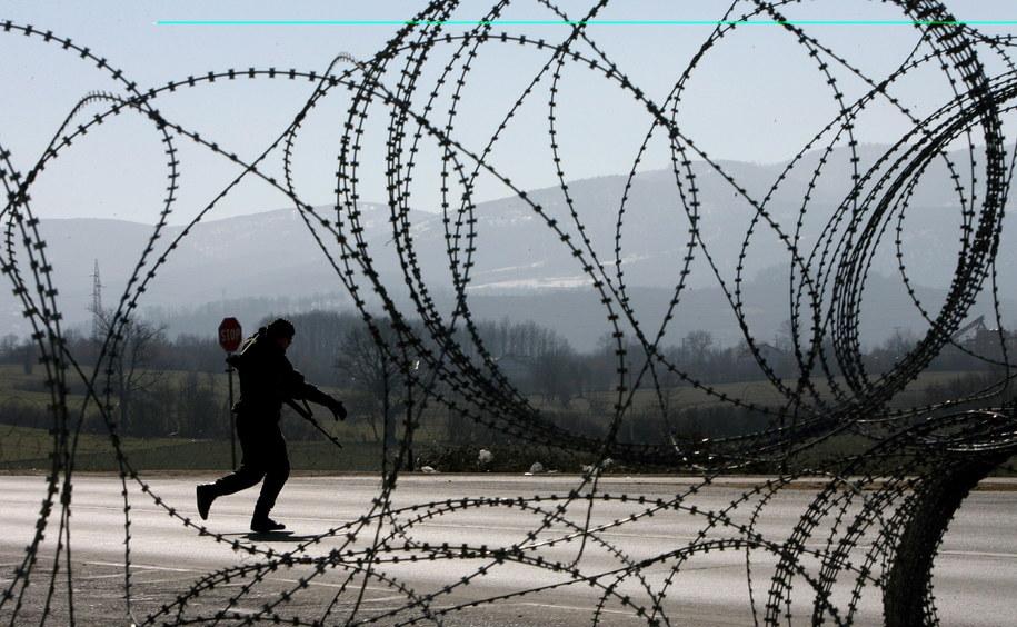 Żołnierz sił pokojowych KFOR, Gerlica, Serbia / VALDRIN XHEMAJ   (PAP/EPA) /PAP/EPA