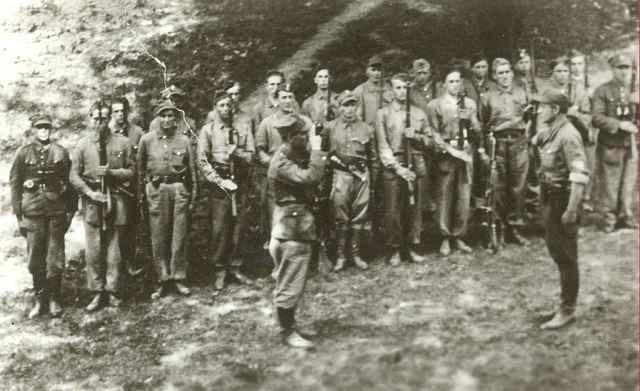 Żołnierze NSZ w lesie /materiały prasowe
