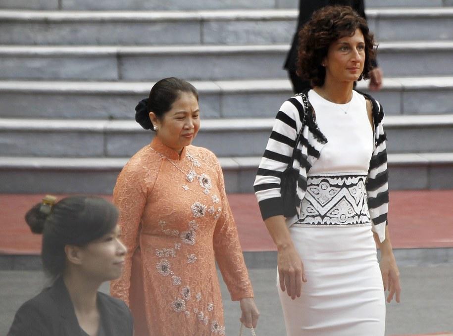 Żona premiera Włoch razem z panią premier Wietnamu /STR /PAP/EPA