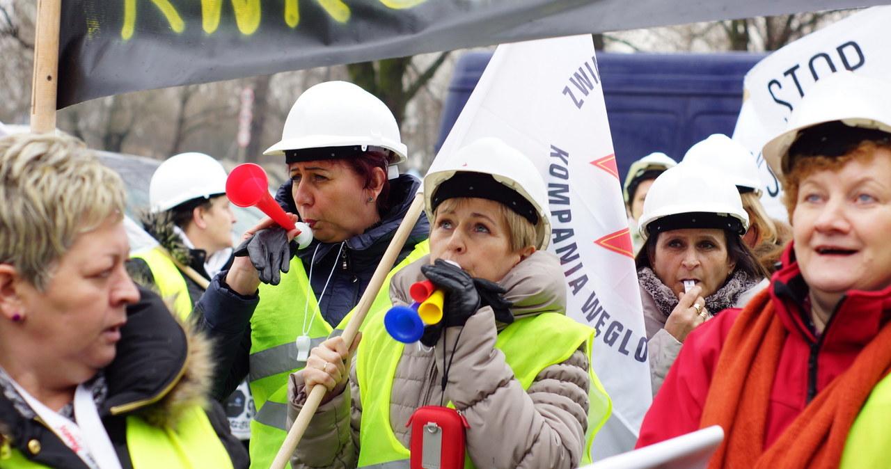 Żony górników przyjechały do Warszawy