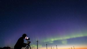 Zorza polarna nagrana kamerą Canon ME20F-SH