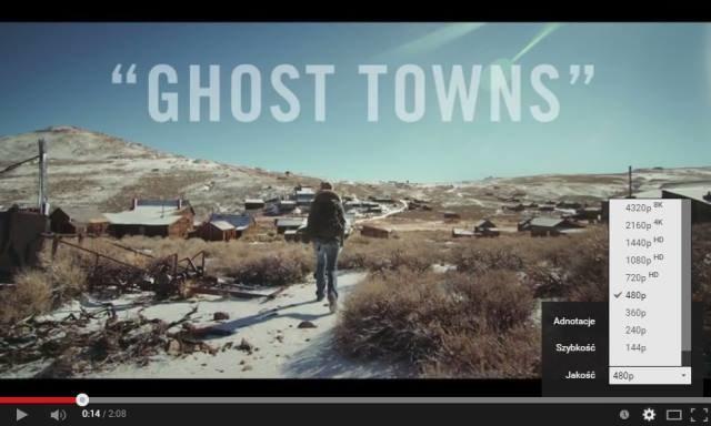 """Zrzut ekranu z """"Ghost Towns"""" - pierwszego filmu w jakości 8K w serwisie YouTube /materiały prasowe"""