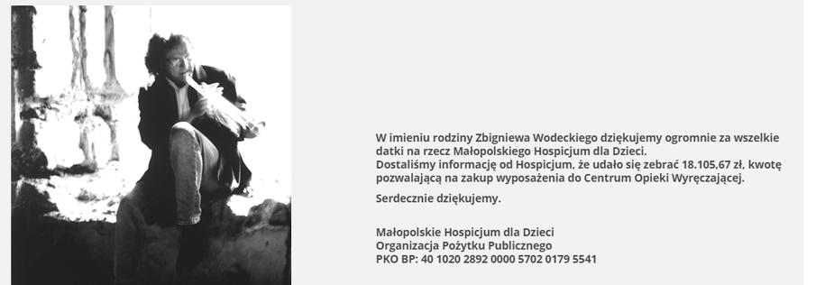 Zrzut ekranu z oficjalnej strony Zbigniewa Wodeckiego /wodecki.pl /Zrzut ekranu