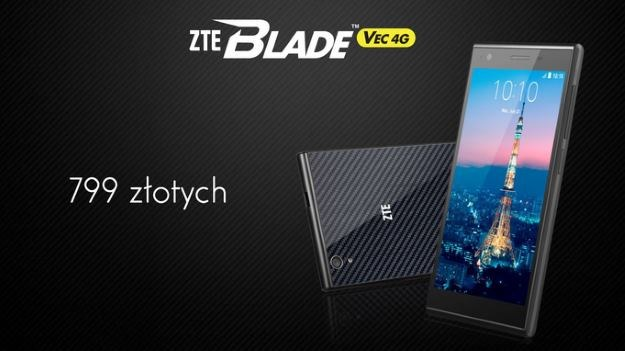 ZTE Blade VEC 4G ma kosztować w Polsce 799 zł /materiały prasowe