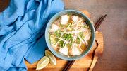 Zupa tajska z kiełkami bambusa