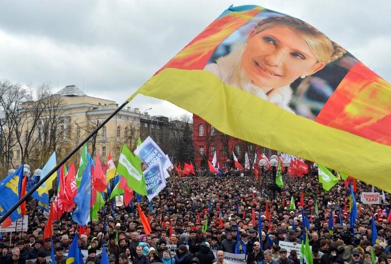 Zwolennicy Julii Tymoszenko /AFP