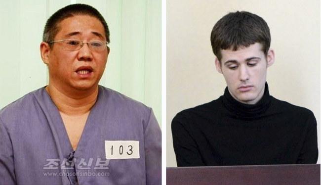 Zwolnieni więźniowie /PAP/EPA/CHOSON SINBO / KCNA HANDOUT /PAP/EPA