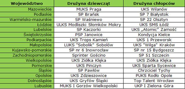 Zwycięskie drużyny finałów wojewódzkich /materiały prasowe
