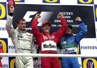 Zwycięzcy GP Belgii na podium