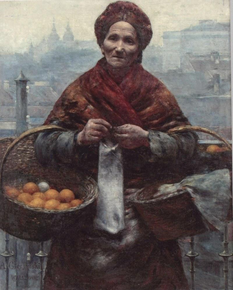 """""""Żydówka z pomarańczami"""", Aleksander Gierymski /Ministerstwo Kultury i Dziedzictwa Narodowego"""