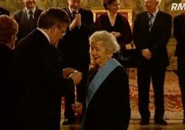 Wisława Szymborska odebrała Order Orła Białego