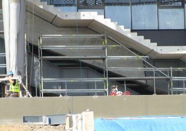 Remont schodów na Stadionie Narodowym