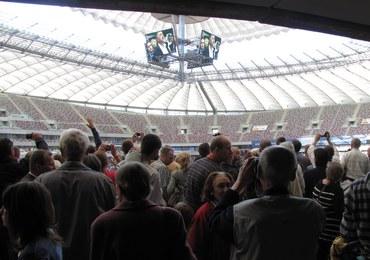 Tysiące zwiedzających na Stadionie Narodowym